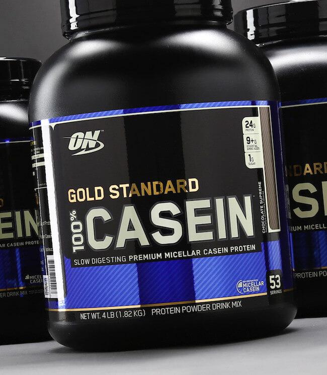 optimum gold standard 100% casein protein tozu