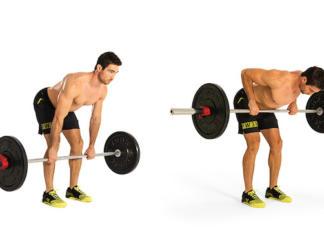 bent over bb row vücut geliştirme hareketi